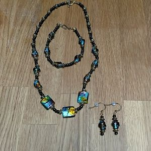 Jewelry - Necklace, bracelet and earrings set