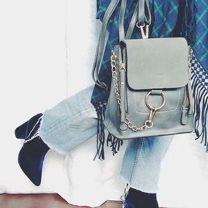 Handbags - 🆕Makayla Gray Vegan Leather Mini Backpack