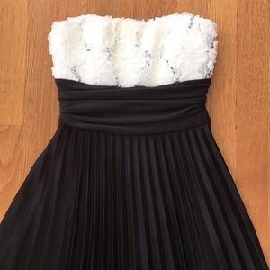 Beautiful Formal Black and White Dress