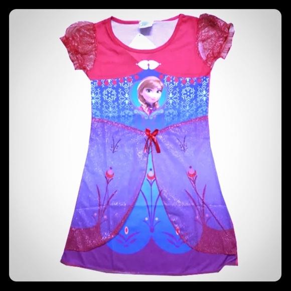 Disney s Frozen Anna Nightgown Dress 77ab86a98