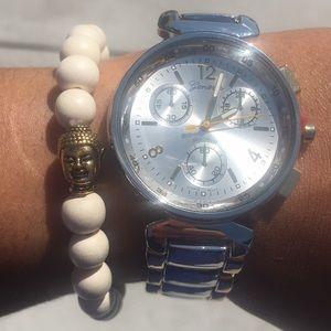🆕 Buddha Bead With White Wood Beads Stretch