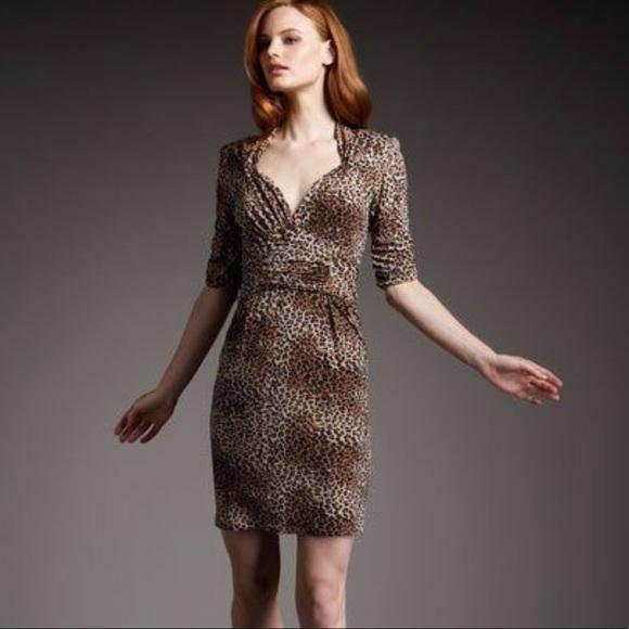 e1dcae5e29 Nanette Lepore Leopard Print Dress. M 59b2e1fd2ba50a8e2d038ad2