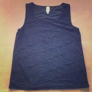 Textured Black Sleeveless Shirt