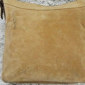 fe8a5156f9fd Coach Bags - Coach tan suede crossbody purse 9324