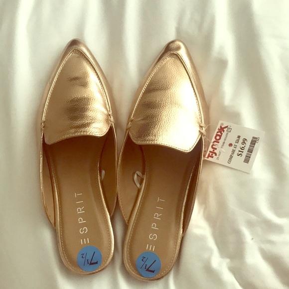 462c4c7cb71c51 NWT Rose Gold Mules