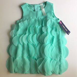 NWT aqua girls' dress