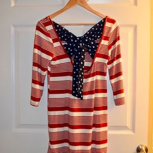 Tops - Red white & blue striped tunic