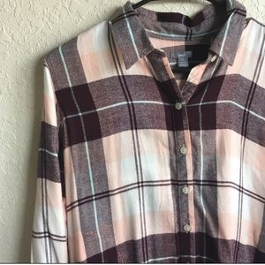 American Eagle Aerie oversized plaid shirt