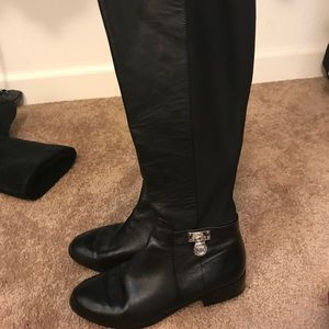 Riding leather boots
