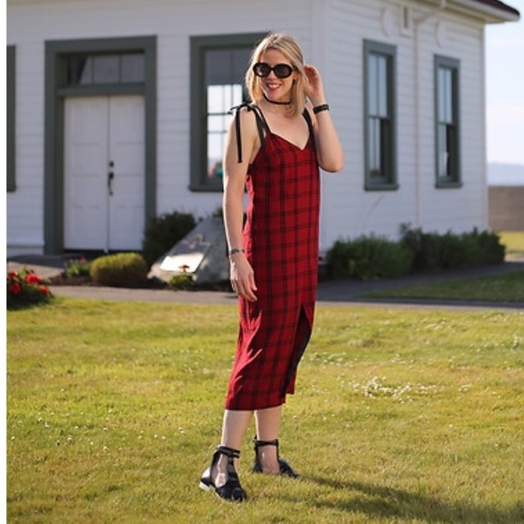 b1eab3b3be058 Zara Dresses | Red Plaid Dress | Poshmark