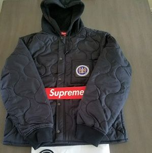 1f110f18549f supreme Jackets   Coats - 100% Authentic Supreme Quilted liner hooded jacket