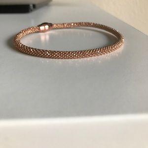 Jewelry - Italian Mesh 14k Over Sterling Rose Gold Bracelet