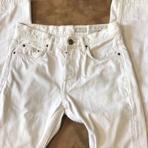 all saints cigarette skinny fit white jeans 28