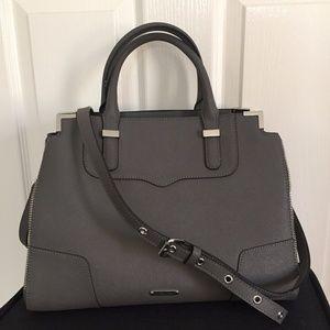 Rebecca Minkoff Amourous Leather Satchel (Gray)