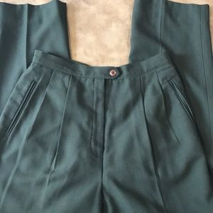 Vintage lined hi waisted trousers size 6 petite