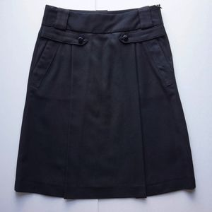 ZARA Black A-line Skirt