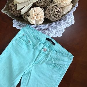 Denim - Mint Green Skinny Jeans