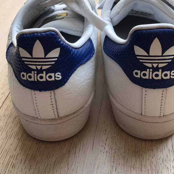 le adidas superstar donne dimensioni 7 wblue strisce poshmark