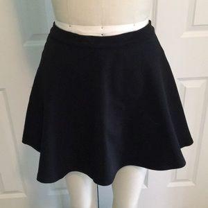 Nordstrom Black Scuba Circle Skirt