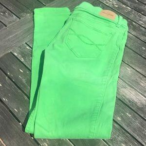 Abercrombie Kids Green Skinny Jeans 16