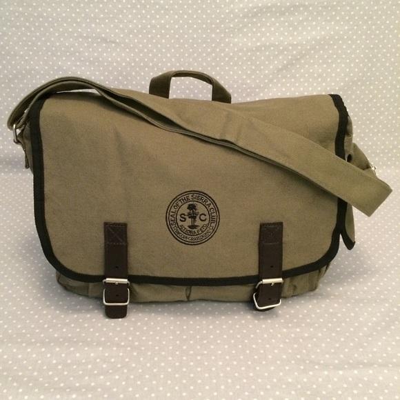 352d1b4aee60 Handbags - Sierra Club canvas messenger bag in khaki green
