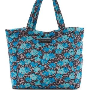 Marc by Marc Jacobs Quilted Blue Wildflower Tote