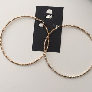 Large gold rope hoops