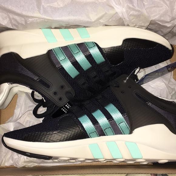 Adidas zapatos NWT EQT Support ADV tamaño 85 negro y azul poshmark