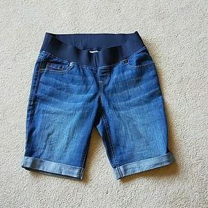 Pants - Maternity Denim Bermuda Shorts small