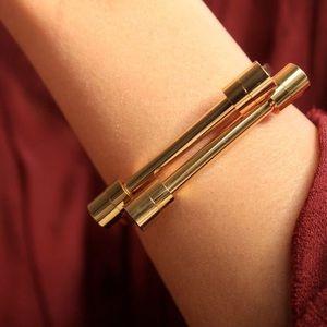 Gold Screw Love Shackle Bracelet Cuff Bangle