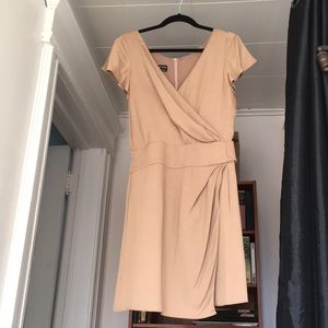 Emporio Armani beige fully lined dress