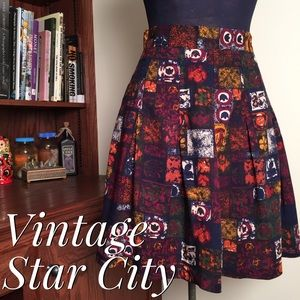 🆕 Vintage Star City Clothing Co. Pleated Skirt