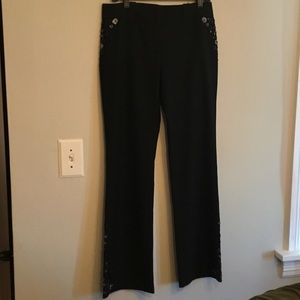 Laundry by Shelli Segal size 8 grey stretch pants