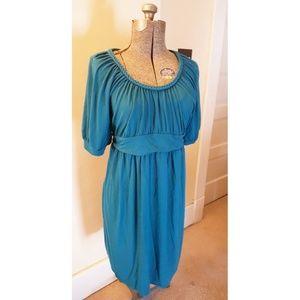 Liz Lange Maternity for Target XL teal dress