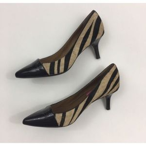 Isaac Mizrahi Pony Hair Patent Leather Pumps 7 M