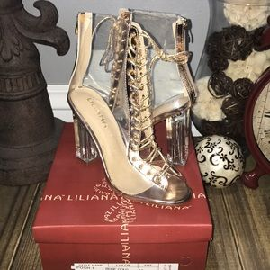 Clear Lace Up Booties 👑 NIB