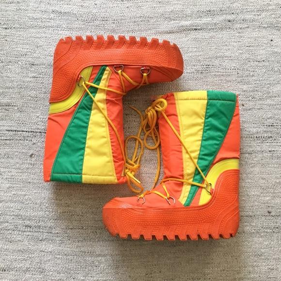 Vintage Shoes 70s Tangerine Moon Boots Poshmark