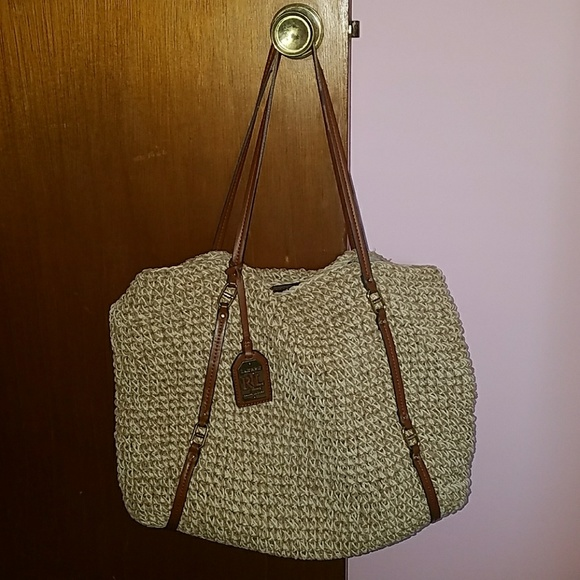 ebf7e8fc2c Ralph Lauren Straw Tote. M 59b316bd522b4520a3044c06. Other Bags ...