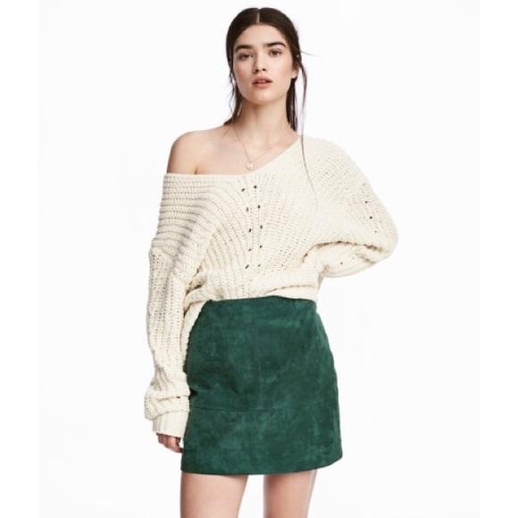 8094f2f92 Free People Skirts | Vintage Green Suede Mini Skirt | Poshmark