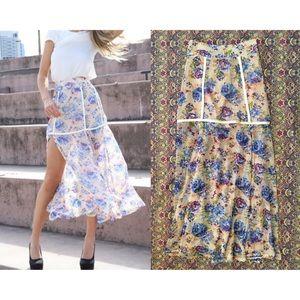 ѕαвσ ѕкιят - Floral Slit Maxi Skirt