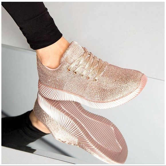85c4a80f04d93 Qupid Shoes | Spyrock09 Rose Gold Woven Sneaker | Poshmark