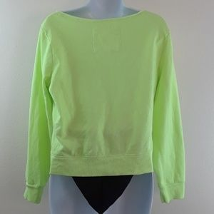 e0707c3a843f8 Justice Shirts   Tops - JUSTICE GIRLS 18 NEON GREEN SWEATSHIRT