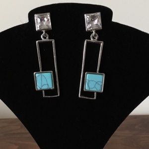 Jewelry - Earrings, and Turquoise, and Rhinestones.  Oh My!