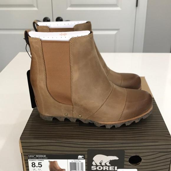 Sorel Lea Wedge- Elk Size 8.5 57190bf13afa