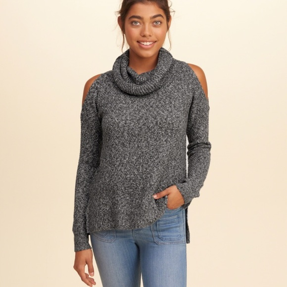 3d635d60a12 Hollister Sweaters - Hollister  Cowl Neck Cold Shoulder Long Sleeve Top