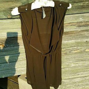 Sheer brown/green jacket cover