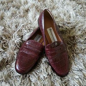 Etienne Aigner Monarch Croc Loafers Vintage