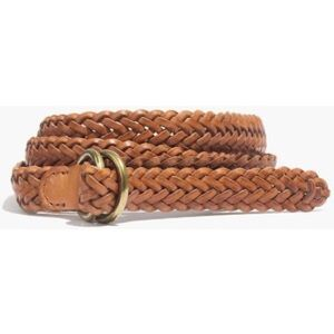 MADEWELL NWOT Braided leather belt-SIZE XS/S