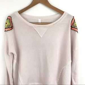 High-Low Embellished Pullover