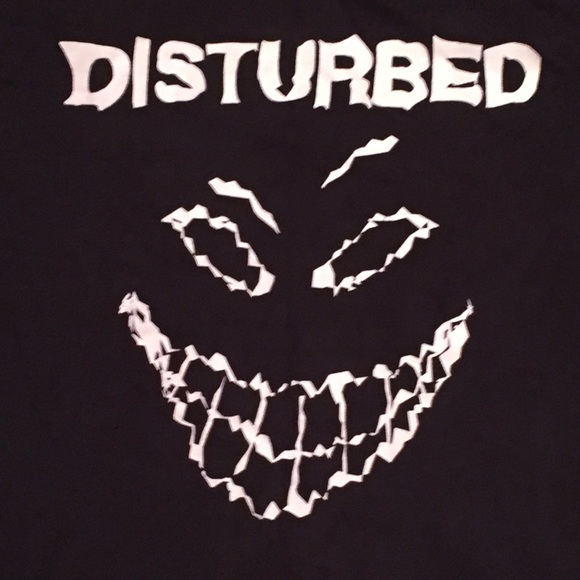 Vtg disturbed sickness face t shirt large